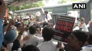 Doctors Begin Protest Against National Medical Commission Bill Outside Delhi's Nirman Bhawan