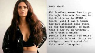 Esha Gupta Alleges a Man 'Eye-Raped' Her at Delhi Restaurant Despite Warning And Security