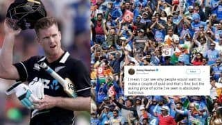 New Zealand All-Rounder James Neesham Calls Indian For Doing Business With ENG, NZ Fans; Urges to Resell New Zealand vs England ICC Cricket World Cup 2019 Final Tickets at Fair Price   SEE POSTS