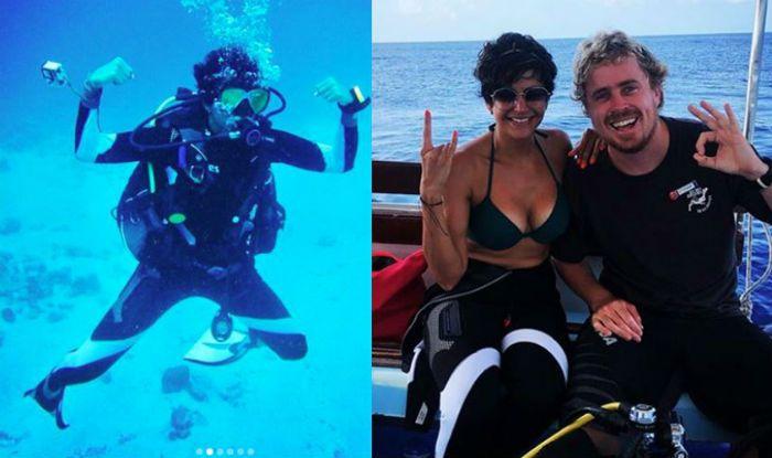 Mandira Bedi's Underwater Pictures During Scuba Diving is