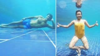 Ankita Konwar-Milind Soman's Sizzling Underwater Pool Pictures Turn up The Heat This Summer