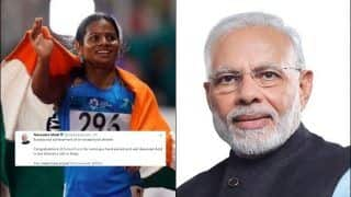 Prime Minister Narendra Modi Congratulates Dutee Chand For Winning Gold in World University | SEE POST