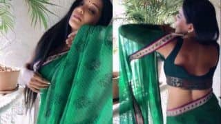 Bhojpuri Bombshell Monalisa's Hot Saree Dance in Monsoon is Why This Season Looks Beautiful