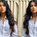 Hot TV Actor Nia Sharma Rocks a Low-Key Look in Basic Blue Shirt- Try This Monsoon Fashion