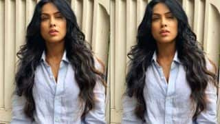 Hot TV Actor Nia Sharma Rocks a Low-Key Look in Basic Blue Shirt- Try This Monsoon Fashion