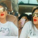 Nia Sharma Looks Hot Bomb in White And Bold Red Lips, Keeps Her Hair Game Strong