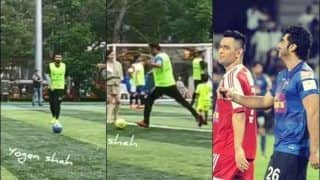 MS Dhoni Plays Charity Football Match With Arjun Kapoor in Mumbai Before Joining Indian Army Regiment | WATCH VIDEO