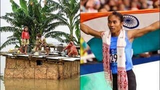 Indian Athlete Hima Das Requests Everyone to Contribute For Assam Flood Relief Fund, Donates Half of Her Salary