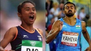 Indian Mixed-Relay Team of Hima Das, Mohammad Anas, Arokia Rajiv, MR