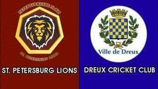 Dream11 Team St. Petersburg Lions vs Dreux Cricket Club European Cricket League T10 Cricket Prediction Tips For Today's T10 Match PTL vs DRX at La Manga Club