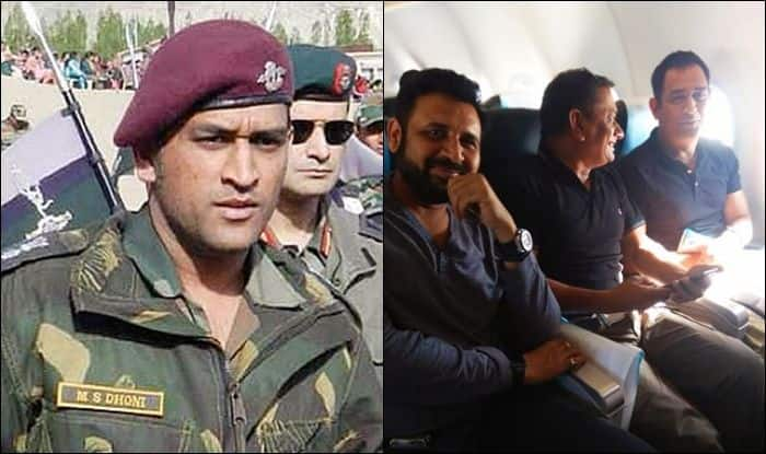 Exclusive Pictures of Lt. Col. MS Dhoni on Kashmir Bound Flight to Join Indian Army | SEE