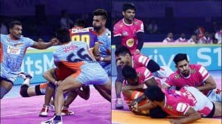 Pro Kabaddi League 2019, Jaipur Pink Panthers vs Bengal Warriors Highlights, JAI vs BEN Match 13; Jaipur Comes From Behind to Win Edge-of-The-Seat Thriller