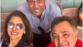 Neetu Kapoor-Rishi Kapoor Can't Contain Their Excitement as They Pose With Kapil Dev Ahead of IND VS SL Semi Final