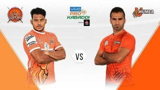 Pro Kabaddi League 2019 U Mumba vs Puneri Paltan Highlights, MUM vs PUN Match 12; Sandeep Narwal, Fazel Atrachali Star as Mumbai Beat Pune 33-23