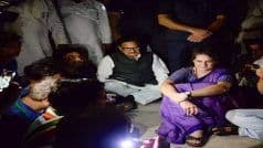 'Ready to go to Jail,' Sitting in Dark, Priyanka Gandhi is Upping The Ante Against UP Govt Over Sonbhadra