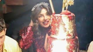 Priyanka Chopra Wears Sindoor With Maroon Sultry Dress on Her 37th Birthday Party- See Pics