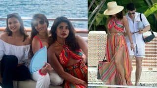 Priyanka Chopra Poses With Parineeti Chopra as They Have a 'Chill Day' on a Yacht in Miami