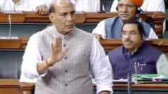 As Rajnath Counters Oppn in LS Over Donald Trump's Kashmir Remark, Congress Stages Walk Out