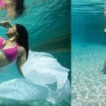 9 Months Pregnant Sameera Reddy Flaunts Her Baby Bump in Underwater Photoshoot, See Pics
