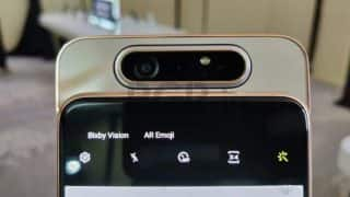 Samsung Galaxy A80 rotating camera internals demonstrated in a video