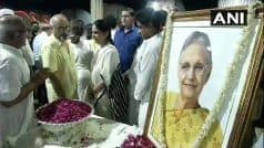 Sheila Dikshit Cremated With Full State Honours at Nigambodh Ghat