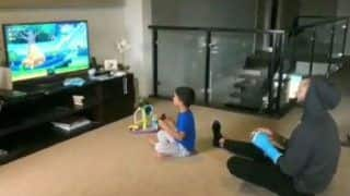 Shikhar Dhawan Plays Super Mario With His Son Zoravar, Watch Adorable Video Here