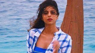 ट्यूब टॉप- डेनिम शॉर्ट्स में शाहरुख खान की बेटी सुहाना के जलवे, मालदीव में की 'नीली-नीली' मस्ती