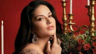 Sunny Leone Oozes Oomph as She Sensuously For Camera in Hot And Sexy Dress