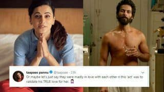 Taapsee Pannu Takes a Dig at Sandeep Reddy For His Sexist Statements Justifying Violence in Kabir Singh