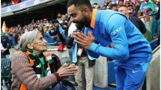 ICC World Cup 2019: कोहली ने बुजुर्ग महिला प्रशंसक से किया मैच टिकट देने का वादा