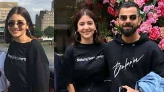 Virat Kohli Holds Anushka Sharma's Denim Jacket as They Get Clicked With Fans in London