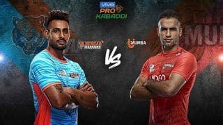 Pro Kabaddi League 2019 Match HIGHLIGHTS: Prapanjan, Baldev Shine as Bengal Warriors Edge Out U Mumba 32-30 to Continue Winning Run