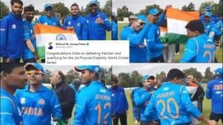 Move Over Virat Kohli-Led Team India! Celebrations of Physically Disabled Indian Cricket Team After Beating Pakistan in Physical Disability World Cricket Series Will Win Your Hearts | WATCH VIDEO