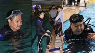 #MuchWow! Sports Min Hits Pool After Specially-Abled Armymen Impress Him | PICS