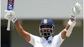 INDvsWI: रहाणे का शतक, विहारी चूके, भारत ने वेस्टइंडीज को दिया 419 रन का लक्ष्य