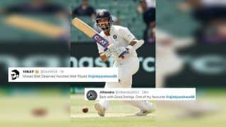 India vs West Indies: Ajinkya Rahane Wins Twitter With Brilliant 81 on Day 1 After Virat Kohli, Cheteshwar Pujara Fail in Antigua | SEE POSTS
