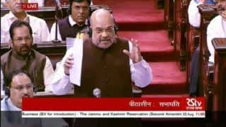 Article 370 Abrogated, Amit Shah Proposes Resolution in Rajya Sabha; Mufti Calls it 'Darkest Day in Democracy'