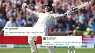 Ashes 2019: Ben Stokes Requests Specsavers to Give Jack Leach Free Glasses For Life After England Beat Australia at Headingley | SEE POSTS