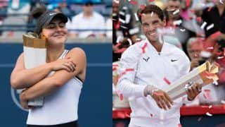 Rafael Nadal, Bianca Andreescu Crowned Champions at Rogers Cup
