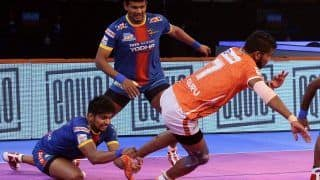 Dream11 Team UP vs PUN Pro Kabaddi League 2019 - Kabaddi Prediction Tips For Today's PKL Match 61 UP Yoddha vs Puneri Paltan at Thyagaraj Sports Complex, Delhi: