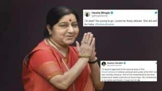 Gautam Gambhir to Suresh Raina, How Sports Fraternity Mourned The Death of External Affairs Minister Sushma Swaraj | SEE POSTS