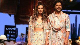 In Pics: Farhan Akhtar, Shibani Dandekar Paint Lakme Fashion Week's Stage With Style And Love