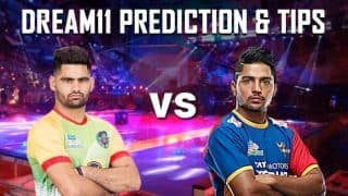 Dream11 Team PAT vs UP Pro Kabaddi League 2019 - Kabaddi Prediction Tips For Today's PKL Match 33 Patna Pirates vs U.P. Yoddha at Patliputra Indoor Stadium in Patna