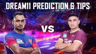 Dream11 Team DEL vs UP Pro Kabaddi League 2019 - Kabaddi Prediction Tips For Today's PKL Match 59 Dabang Delhi K.C. vs U.P. Yoddha at Thyagaraj Sports Complex, Delhi