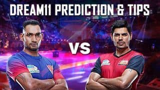 Dream11 Team DEL vs BLR Pro Kabaddi League 2019 - Kabaddi Prediction Tips For Today's PKL Match 56 Dabang Delhi K.C. vs Bengaluru Bulls at Thyagaraj Sports Complex, Delhi