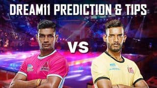 Dream11 Team JAI vs HYD Pro Kabaddi League 2019 - Kabaddi Prediction Tips For Today's PKL Match 57 Jaipur Pink Panthers vs Telugu Titans at Thyagaraj Sports Complex, Delhi