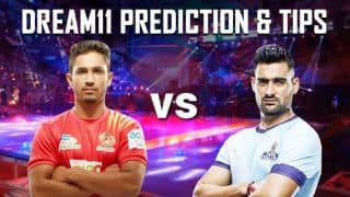 Dream11 Team GUJ vs CHE Pro Kabaddi League 2019 - Kabaddi Prediction Tips For Today's PKL Match 34 Gujarat Fortunegiants vs Tamil Thalaivas at EKA Arena by TransStadia in Ahmedabad