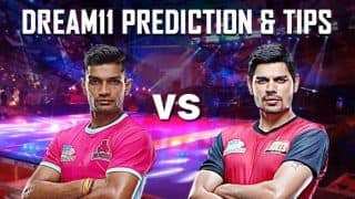 Dream11 Team JAI vs BLR Pro Kabaddi League 2019 - Kabaddi Prediction Tips For Today's PKL Match 58 Jaipur Pink Panthers vs Bengaluru Bulls at Thyagaraj Sports Complex, Delhi