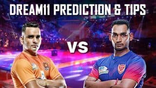 Dream11 Team PUN vs DEL Pro Kabaddi League 2019 - Kabaddi Prediction Tips For Today's PKL Match 35 Puneri Paltan vs Dabang Delhi K.C. at EKA Arena by TransStadia in Ahmedabad