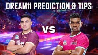 Dream11 Team UP vs JAI Pro Kabaddi League 2019 - Kabaddi Prediction Tips For Today's PKL Match 50 U.P. Yoddha vs Jaipur Pink Panthers at Jawaharlal Nehru Indoor Stadium, Chennai